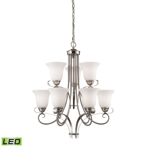 Brighton 9-Light Chandelier in Brushed Nickel by Elk 1009CH/20-LED