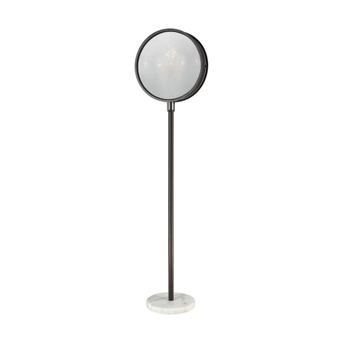 Cadabra Floor Lamp by ELK 1141-080 oiled bronze finish with plated smoke glass