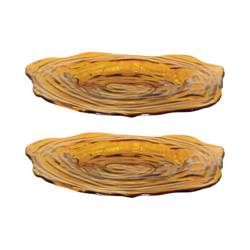 "ELK 308437/S2 Pomeroy Vortizan Set of 2 Plates 19"" Honey"