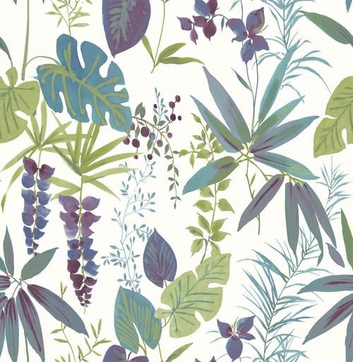 A-Street Prints by Brewster 2656-004001 Descano Exotic Plum Botanical Wallpaper