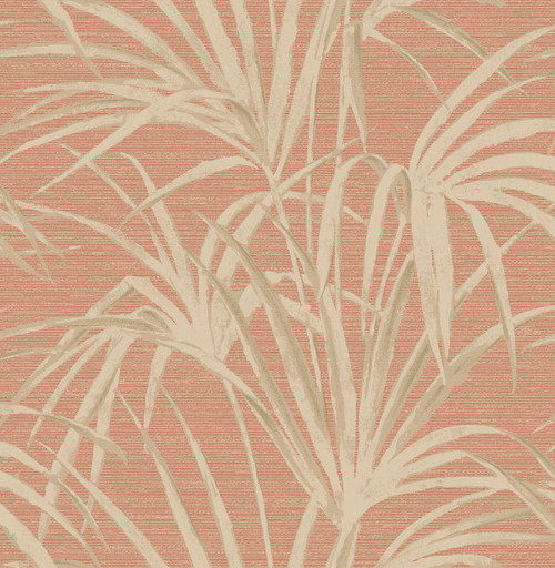 Beacon House by Brewster 2669-21718 Empress Song Coral Fountain Palm Wallpaper