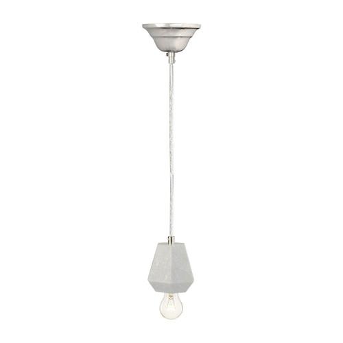 Dimond lighting 8989-012 White Marble 1 Light Hexagonal Pendant White Marble