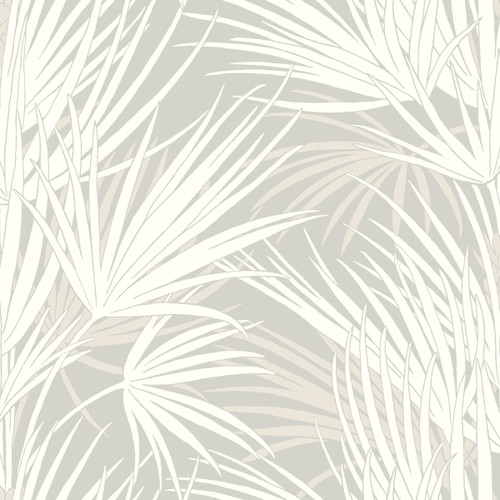 York Wallcoverings SS2541 Silhouettes Palmetto Wallpaper Gray