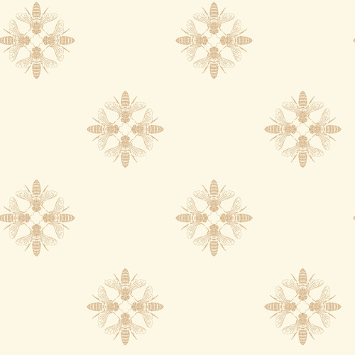 York Wallcoverings ON1641 Honey Bee Wallpaper Gold/Cream