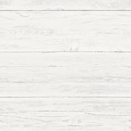 NuWallpaper by Brewster NUW2187 Shiplap Off-White Wood Peel & Stick Wallpaper