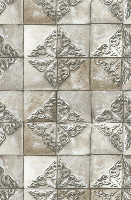 Grace & Gardenia GMK1021 Modern Patchwork Gray  Wallpaper