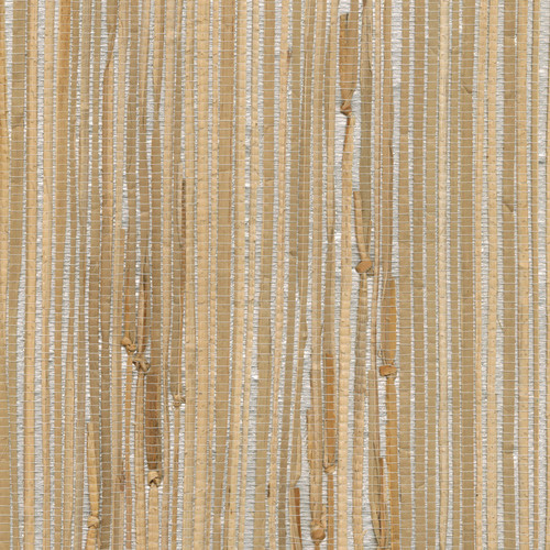 Kenneth James by Brewster 2622-30272 Jade Tereza Silver Foil Grasscloth Wallpaper