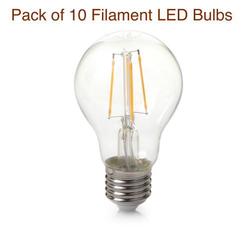 Pack of 10 Classic Look Clear Glass LED Filament Bulb 3.5 Watt 3000K Warm White