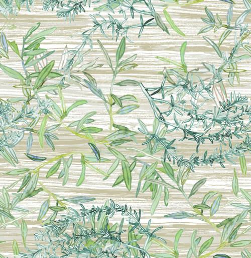 Grace & Gardenia GY2001D Bamboo Garden Peel & Stick wallpaper Green Tan Aqua