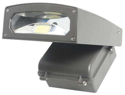 Wall Pack LED 30W 3150 Lumen Adjustable Angle 5000K Cool White Weatherproof, For Area and Security Lighting