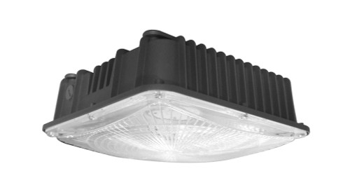 LED Canopy 80w Commercial Grade Light Fixture by OLT, 5000K Cool White, IP65 Waterproof