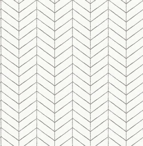 Chesapeake by Brewster 3118-25097 Birch & Sparrow Bison Taupe Herringbone Wallpaper