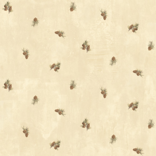Chesapeake by Brewster BBC49463 Welsh Wheat Pinecone Toss Wallpaper Wallpaper
