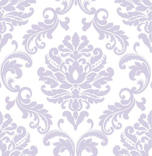 NuWallpaper by Brewster NU1396 Purple Ariel Peel & Stick Wallpaper