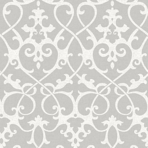 NuWallpaper by Brewster NU1699 Ironwork Grey Peel & Stick Wallpaper
