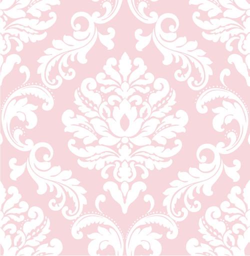 NuWallpaper by Brewster NU1397 Pink Ariel Peel & Stick Wallpaper