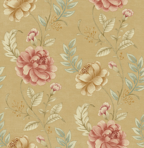 Beacon House by Brewster 2669-21759 Empress Summer Palace Beige Floral Trail Wallpaper