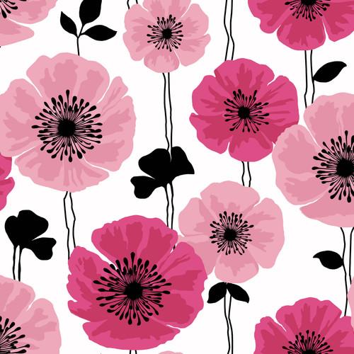 Brewster 2532-20489 Bath Bath Bath IV Darcy Magenta Modern Floral Wallpaper