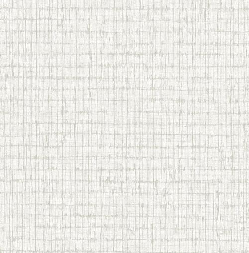 A-Street Prints by Brewster 2785-24851 Platinum Palmweave Wallpaper Grey