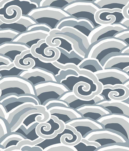 A-Street Prints by Brewster 2785-24840 Denim Decowave Wallpaper Blue