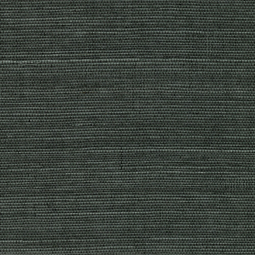 Kenneth James by Brewster 2732-80075 Kowloon Charcoal Sisal Grasscloth Wallpaper