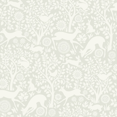 Chesapeake by Brewster HAS01232 Hide And Seek Anahi Light Grey Forest Fauna Wallpaper
