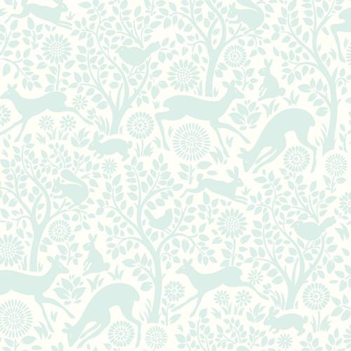 Chesapeake by Brewster HAS01234 Hide And Seek Anahi Aqua Forest Fauna Wallpaper