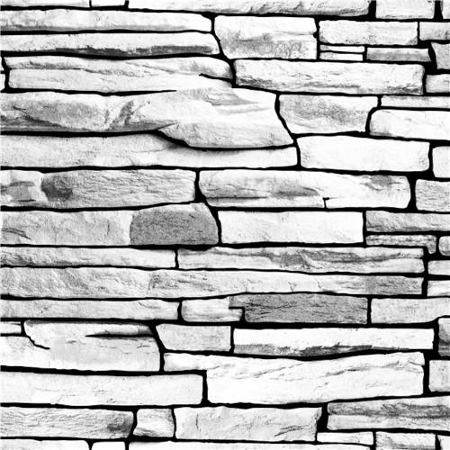 Grace & Gardenia G66302 Stacked Stone Gray Wallpaper