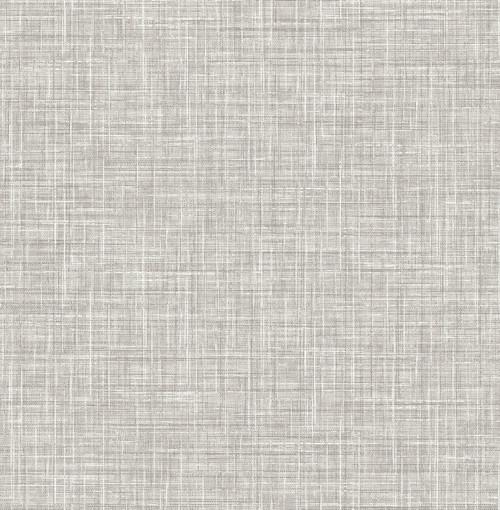 A-Street Prints by Brewster 2793-24270 Poise Grey Linen Wallpaper
