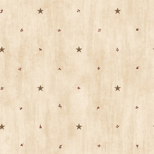 Chesapeake by Brewster BBC09068 Marge Wheat Star Sprigs Toss Wallpaper Wallpaper