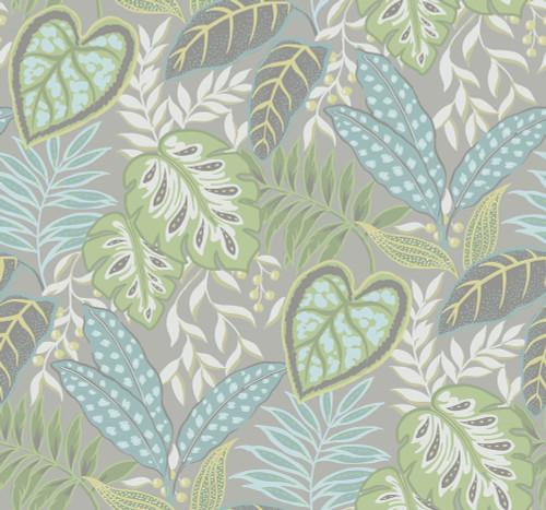 A-Street Prints by Brewster 2785-87421 Meadow Jasmine Wallpaper Green