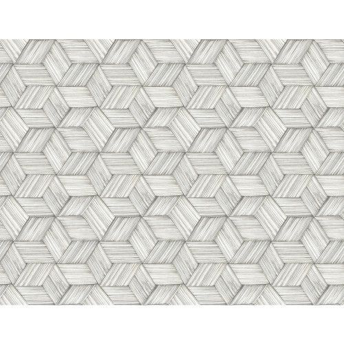 Kenneth James by Brewster PS41400 Palm Springs Intertwined Grey Geometric Wallpaper
