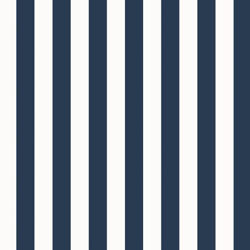 """Norwall Wallcoverings SD36124 Stripes & Damasks 3 1.25"""" Regency Stripe Wallpaper Navy White"""