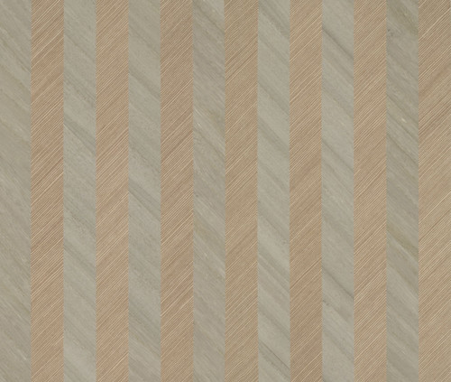 York Wallcoverings TR4282 Ronald Redding Designs Stripes Resource Grass/Wood Stripe Wallpaper Beige