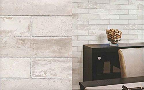 Norwall Wallcoverings LL29532 Illusions 2 Swiss Brick Wallpaper Cream, Grey