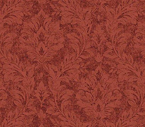 Chesapeake QT19356 Cottage Damask Wallpaper, Red