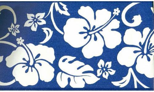 Chesapeake GU92201B Blue Hibiscus Wallpaper Border, Blue