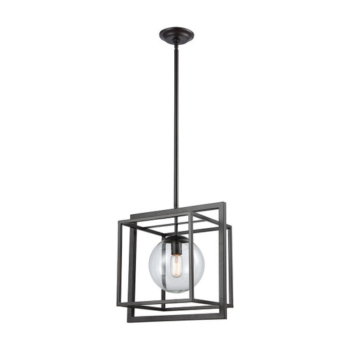 Beam Cage Pendant by ELK 1141-064 oil rubbed bronze finish with clear glass