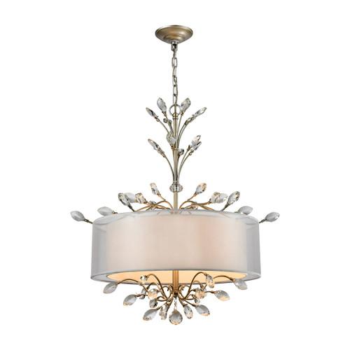 Asbury 4 Light LED Chandelier In Aged Silver by Elk 16282/4