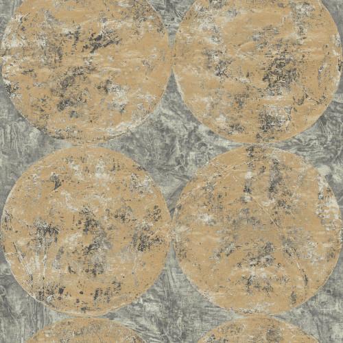 Seabrook wallpaper in Black, Gray, Metallic Gold, Raised Ink MW30005