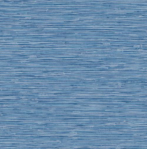 Blue Faux Grasscloth Peel & Stick Wallpaper  GW2004W Grace & Gardenia