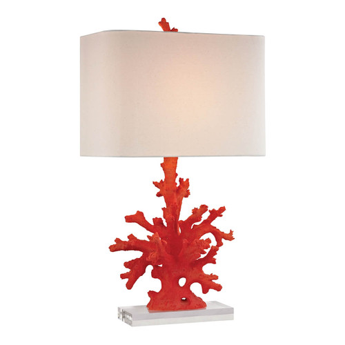 Dimond lighting by Elk D2493 Red Coral Table Lamp Red