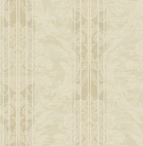 Antique Striped Bouquet Wallpaper in Luster DV50805 from Wallquest's