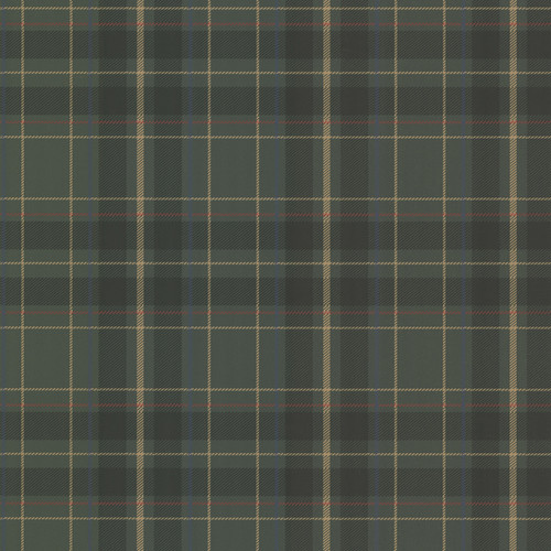 Beacon House by Brewster 2604-21225 Oxford Caledonia Dark Green Plaid Wallpaper