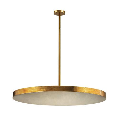 Dimond lighting 1141-016 Laigne 4 Light Disc Pendant In Gold Leaf