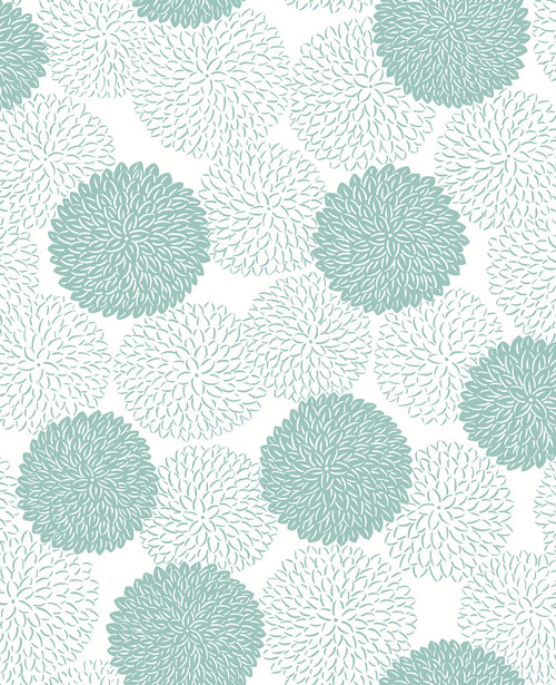 A-Street Prints by Brewster 2764-24326 Mistral Blithe Turquoise Floral Wallpaper