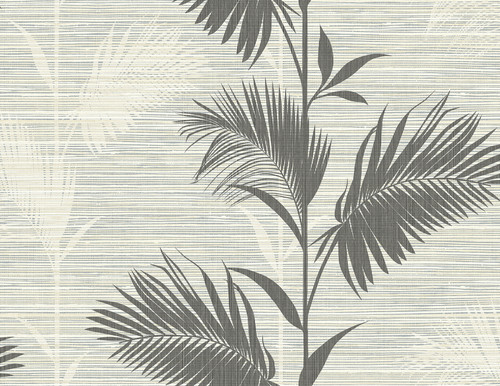 Kenneth James by Brewster PS40300 Palm Springs Away On Holiday Black Palm Wallpaper
