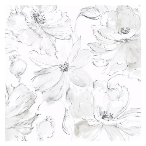York Wallcoverings CL2520 Floral Dreams Wallpaper Gray