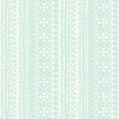 RoomMates RMK3485WP Tribal Peel & Stick Wallpaper Teal