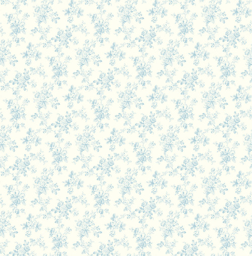 Tiny Blooms Wallpaper in Blue FG70801 from Wallquest